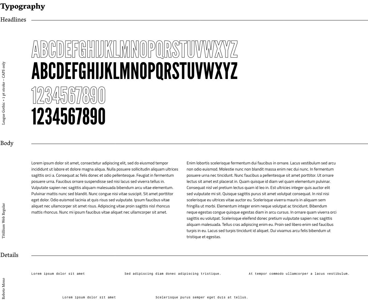 Przykład zastosowania typografii w komunikacji marki